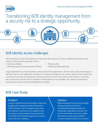 Transitioning B2B identity management from a security risk to a strategic opportunity.