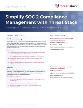 Simplify SOC 2 Compliance Mapping