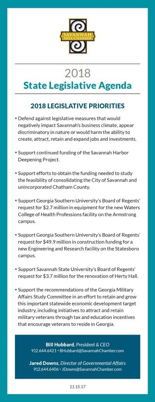 Savannah Chamber Legislative Agenda