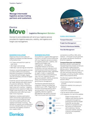Elemica Move: Logistics Management Solutions