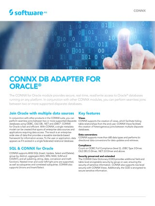 CONNX DB Adapter for Oracle®