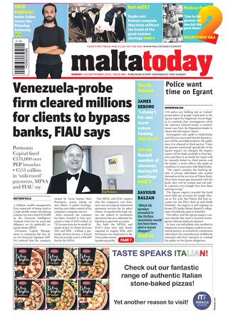 MALTATODAY 30 September 2018