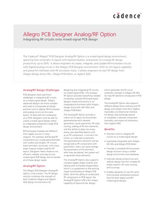 Allegro PCB Designer Analog/RF Option