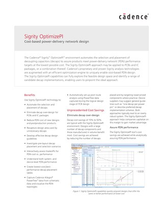 Sigrity OptimizePI
