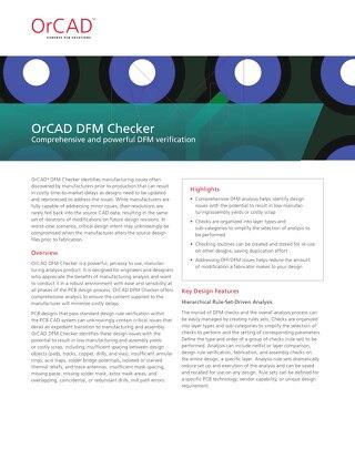 OrCAD DFM Checker