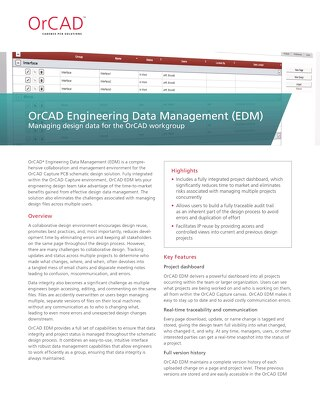 OrCAD Engineering Data Management