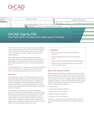 OrCAD Sigrity ERC