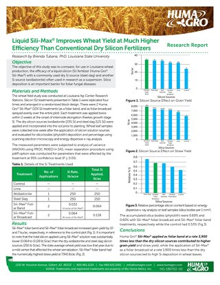 Sili-Max Improves Wheat Yield and Quality, Research Report (HG) ENG