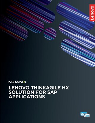 Lenovo ThinkAgile HX Solution for SAP Applications
