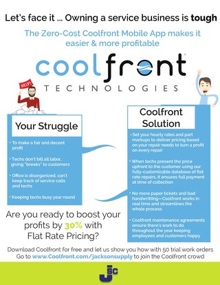 Coolfront Fact Sheet - Jackson Supply