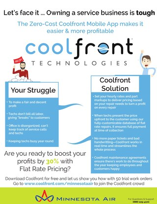 Coolfront Fact Sheet - Minnesota Air