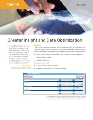 Market Data Permissioning & Optimization - Bank Case Study