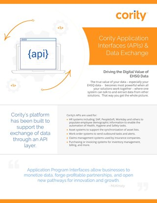 Product Sheet - Cority APIs and Data Exchange