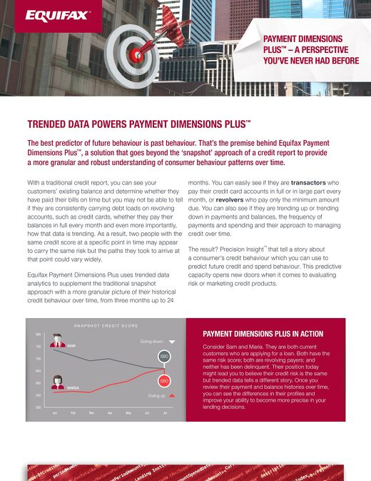 Trended Data Powers Payment Dimensions Plus