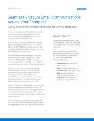 Secure Email with Symantec MPKI