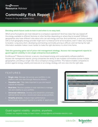 Commodity Risk Report