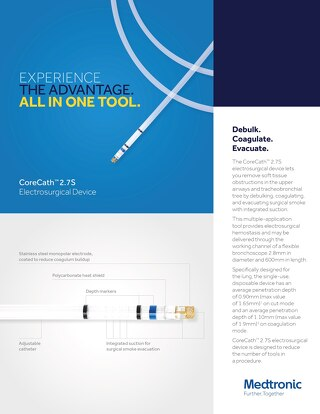 Info Sheet: CoreCath™ 2.7S Electro Surgical Device