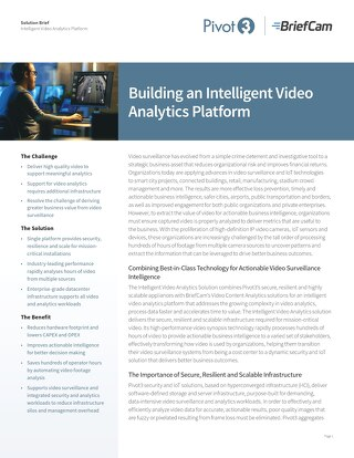 [Solution Brief] Intelligent Video Analytics Platform
