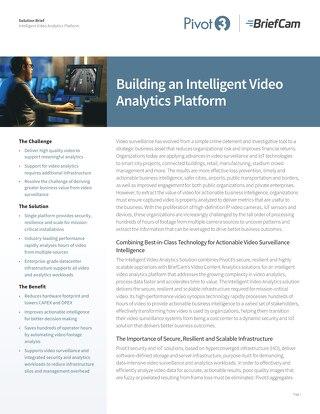 [Solution Brief] Intelligent Video Analytics Platform