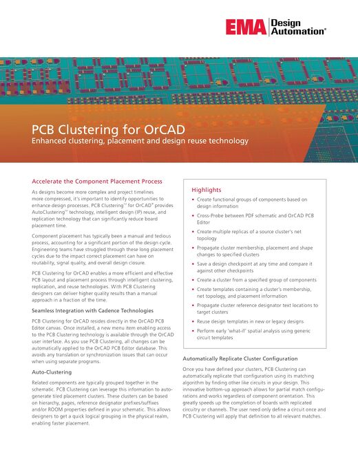 PCB Clustering for OrCAD