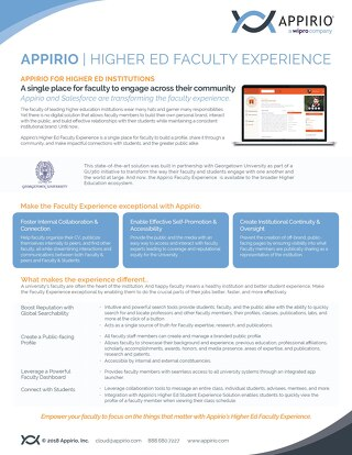 Higher Ed Faculty Experience