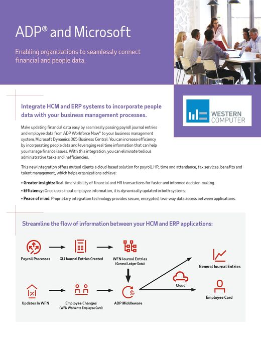 ADP and Microsoft Integration_Product Sheet