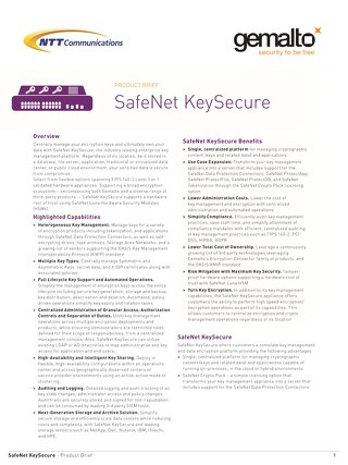 Safe Net Key Secure