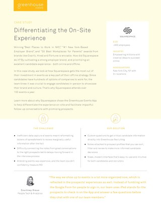 Squarespace: Differentiating the On-Site Experience