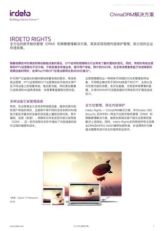 ChinaDRM解决方案 IRDETO RIGHTS