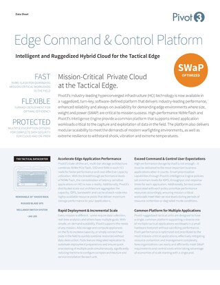 [Data Sheet] Intelligent Command and Control Platform