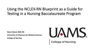 Using the NCLEX-RN Blueprint as a Guide for Testing in a Nursing Baccalaureate Program