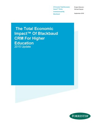 Blackbaud CRM TEI Study for Higher Ed