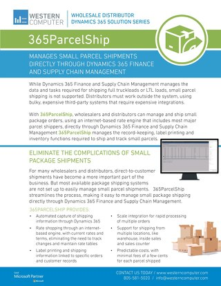 365ParcelShip Sales Sheet