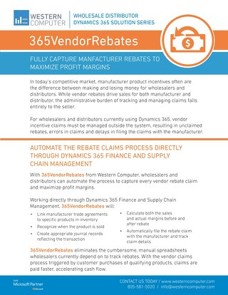 365VendorRebates Sales Sheet