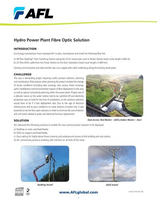 Hydro Power Plant Fibre Optic Solution