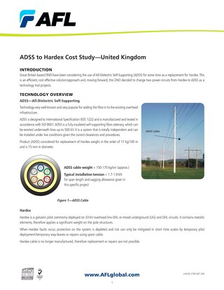 ADSS to Hardex Cost Study -- United Kingdom