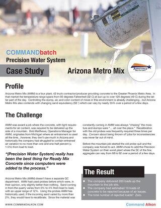 Arizona Metro Mix PWS Case Study
