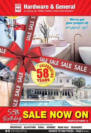 H&G's 58th Birthday Sale Social Media Specials