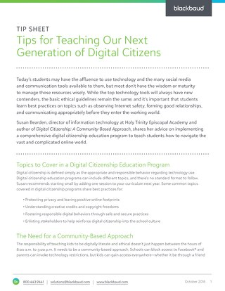 Tips for Teaching Our Next Generation of Digital Citizens