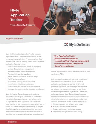 IT Asset Management - Application Tracker Product Brief