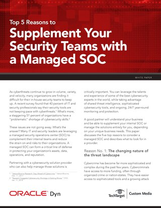 Top 5 Reasons to Supplement Your Security Teams With a Managed SOC