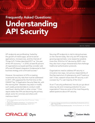 API Security FAQ