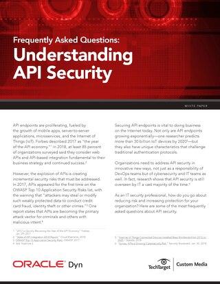 API Security FAQ