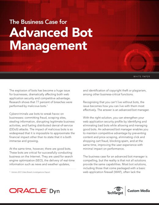 Bot Manager Business Case