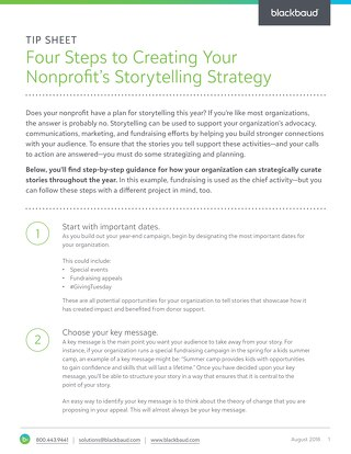 4 Steps to Creating Your Nonprofit Storytelling Strategy
