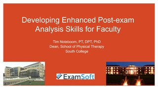 Developing Enhanced Post-exam Analysis Skills for Faculty