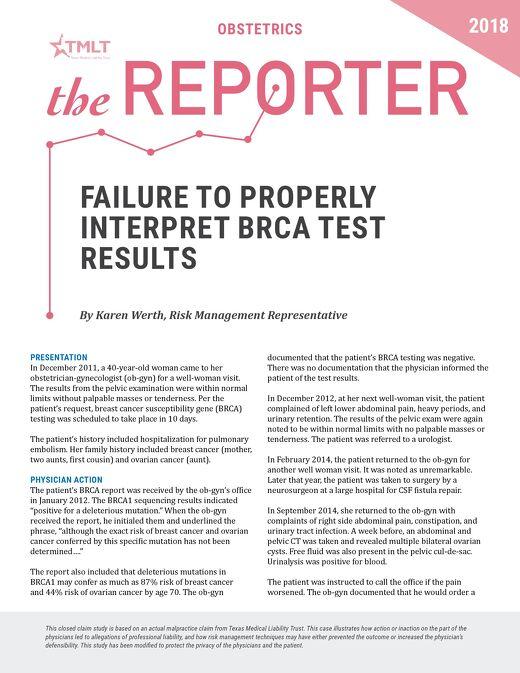 Reporter 2018 Obstetrics