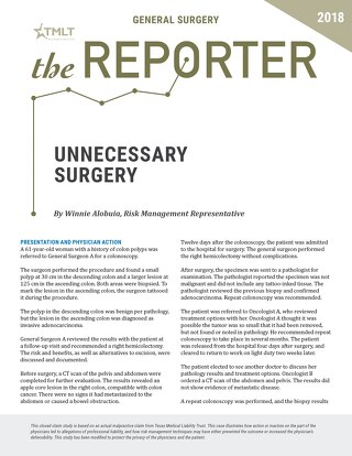 Reporter 2018 General Surgery