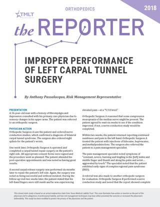 Reporter 2018 Orthopedics