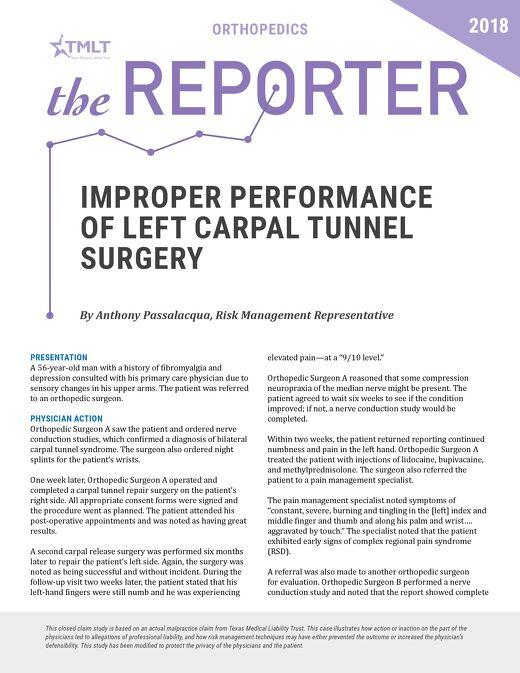 Reporter 2018 Orthopedics
